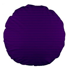 Pattern Violet Purple Background Large 18  Premium Flano Round Cushions