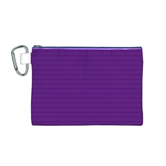 Pattern Violet Purple Background Canvas Cosmetic Bag (m)