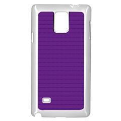 Pattern Violet Purple Background Samsung Galaxy Note 4 Case (White)