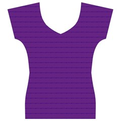 Pattern Violet Purple Background Women s V-Neck Cap Sleeve Top