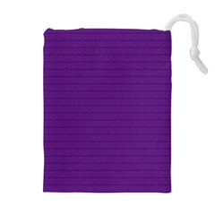 Pattern Violet Purple Background Drawstring Pouches (Extra Large)