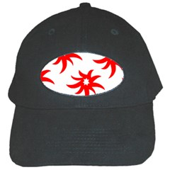 Star Figure Form Pattern Structure Black Cap