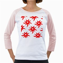 Star Figure Form Pattern Structure Girly Raglans