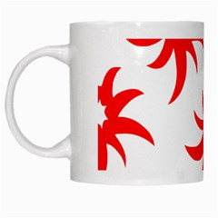 Star Figure Form Pattern Structure White Mugs
