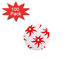 Star Figure Form Pattern Structure 1  Mini Magnets (100 pack)