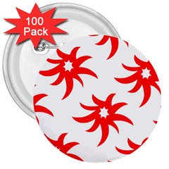 Star Figure Form Pattern Structure 3  Buttons (100 Pack)