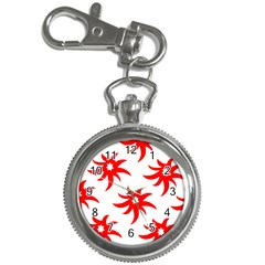 Star Figure Form Pattern Structure Key Chain Watches