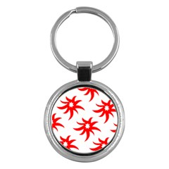 Star Figure Form Pattern Structure Key Chains (Round)