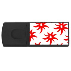 Star Figure Form Pattern Structure USB Flash Drive Rectangular (4 GB)