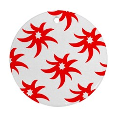 Star Figure Form Pattern Structure Round Ornament (Two Sides)
