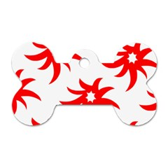 Star Figure Form Pattern Structure Dog Tag Bone (Two Sides)