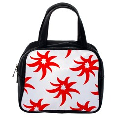 Star Figure Form Pattern Structure Classic Handbags (One Side)