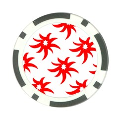 Star Figure Form Pattern Structure Poker Chip Card Guard (10 pack)