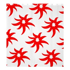 Star Figure Form Pattern Structure Shower Curtain 66  X 72  (large)