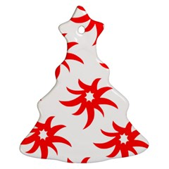 Star Figure Form Pattern Structure Christmas Tree Ornament (two Sides)