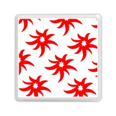 Star Figure Form Pattern Structure Memory Card Reader (square)
