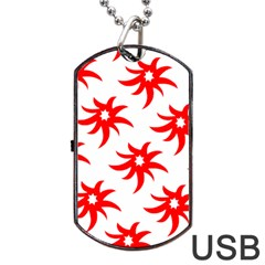 Star Figure Form Pattern Structure Dog Tag USB Flash (Two Sides)