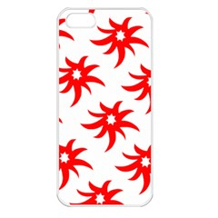 Star Figure Form Pattern Structure Apple iPhone 5 Seamless Case (White)