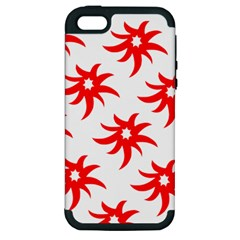 Star Figure Form Pattern Structure Apple iPhone 5 Hardshell Case (PC+Silicone)
