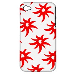 Star Figure Form Pattern Structure Apple iPhone 4/4S Hardshell Case (PC+Silicone)