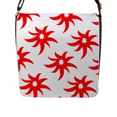 Star Figure Form Pattern Structure Flap Messenger Bag (l)