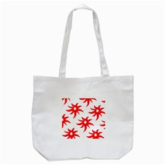Star Figure Form Pattern Structure Tote Bag (white)