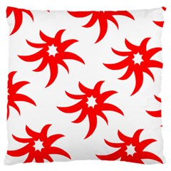 Star Figure Form Pattern Structure Large Flano Cushion Case (Two Sides)