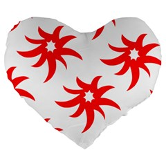 Star Figure Form Pattern Structure Large 19  Premium Flano Heart Shape Cushions