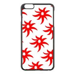 Star Figure Form Pattern Structure Apple Iphone 6 Plus/6s Plus Black Enamel Case