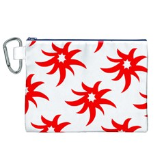 Star Figure Form Pattern Structure Canvas Cosmetic Bag (xl)