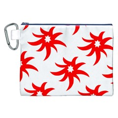 Star Figure Form Pattern Structure Canvas Cosmetic Bag (XXL)