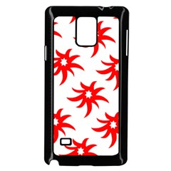Star Figure Form Pattern Structure Samsung Galaxy Note 4 Case (black)
