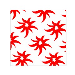 Star Figure Form Pattern Structure Small Satin Scarf (square)