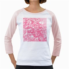 Plant Flowers Bird Spring Girly Raglans