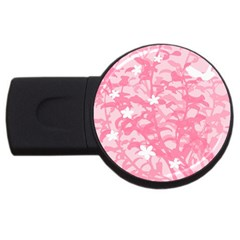 Plant Flowers Bird Spring USB Flash Drive Round (2 GB)