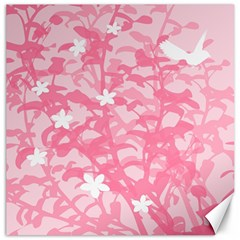 Plant Flowers Bird Spring Canvas 20  x 20