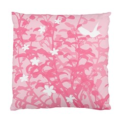 Plant Flowers Bird Spring Standard Cushion Case (Two Sides)