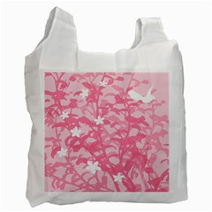 Plant Flowers Bird Spring Recycle Bag (One Side)