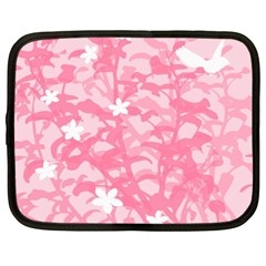 Plant Flowers Bird Spring Netbook Case (XXL)