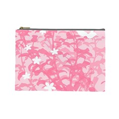 Plant Flowers Bird Spring Cosmetic Bag (Large)