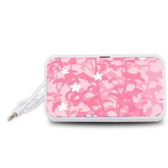 Plant Flowers Bird Spring Portable Speaker (White)