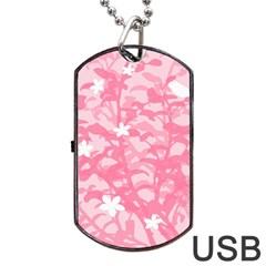 Plant Flowers Bird Spring Dog Tag USB Flash (One Side)