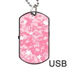 Plant Flowers Bird Spring Dog Tag USB Flash (Two Sides)