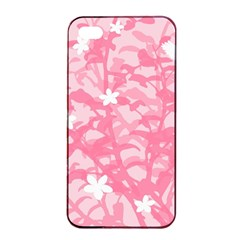 Plant Flowers Bird Spring Apple iPhone 4/4s Seamless Case (Black)