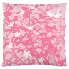 Plant Flowers Bird Spring Large Cushion Case (One Side)