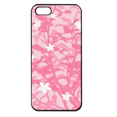 Plant Flowers Bird Spring Apple iPhone 5 Seamless Case (Black)