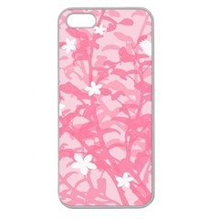 Plant Flowers Bird Spring Apple Seamless iPhone 5 Case (Clear)