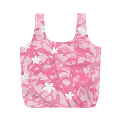 Plant Flowers Bird Spring Full Print Recycle Bags (M)