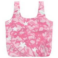 Plant Flowers Bird Spring Full Print Recycle Bags (L)