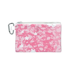 Plant Flowers Bird Spring Canvas Cosmetic Bag (s)